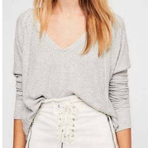 free people thermal catalina gray size small